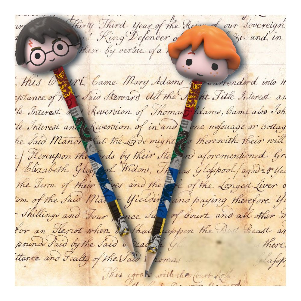 Pencil Topper Eraser and Pencil Set 2-Pack Harry and Ron-The Curious Emporium