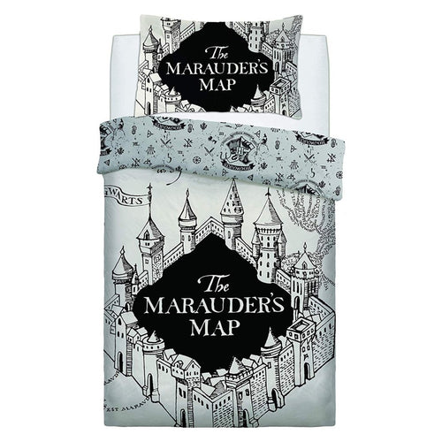 Marauder's Map Single Reversible Duvet Set-The Curious Emporium