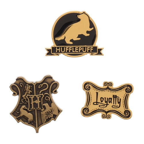 Hufflepuff Lapel Pin Set 3-Pack-The Curious Emporium