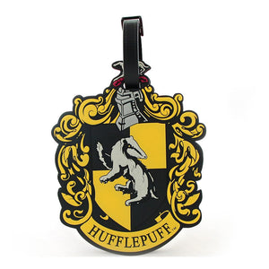 Rubber Luggage Tag Hufflepuff-The Curious Emporium