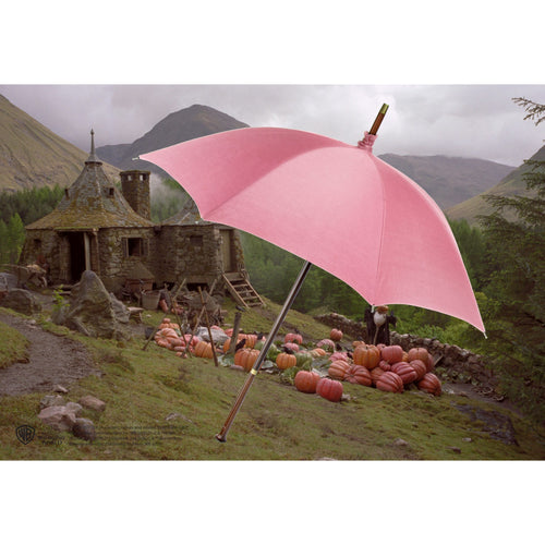 Noble Collection Rubeus Hagrid Pink Umbrella Wand-The Curious Emporium