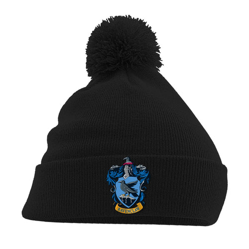 Harry Potter Pom-Pom Black Beanie Ravenclaw-The Curious Emporium