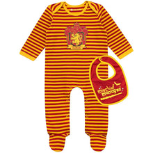 Load image into Gallery viewer, Gryffindor Baby Sleepsuit & Bib Set-The Curious Emporium