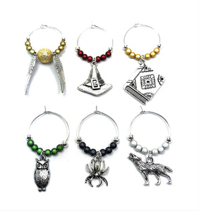 Harry Potter Inspired Wine Glass Charms-The Curious Emporium
