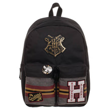 Load image into Gallery viewer, Hogwarts Patches Backpack-The Curious Emporium
