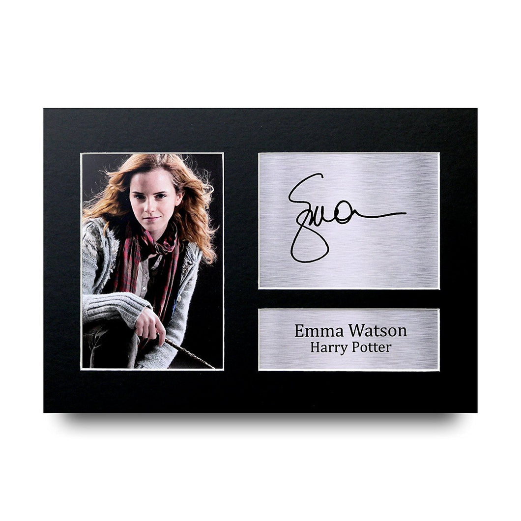 Emma Watson Gift Signed A4 Printed Autograph Photo Picture Display-The Curious Emporium