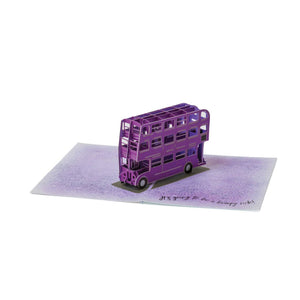 3D Pop-Up Greeting Card Knight Bus-The Curious Emporium