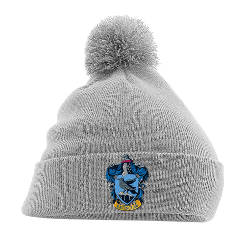 Harry Potter Pom-Pom Grey Beanie Ravenclaw-The Curious Emporium