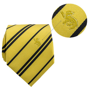 Adult Tie & Metal Pin Deluxe Box Hufflepuff-The Curious Emporium