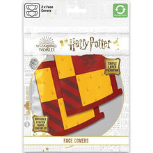 Load image into Gallery viewer, Hogwarts Face Mask - 2 Pack (Various Designs)-The Curious Emporium