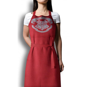 Hogwarts Crest Apron with Oven Mitt/Glove-The Curious Emporium