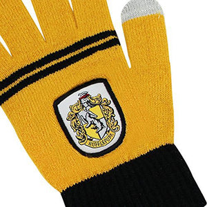 Hufflepuff E-Touch Knitted Acrylic Gloves-The Curious Emporium