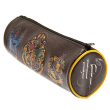 Load image into Gallery viewer, Hogwarts Crests Barrel Pencil Case-The Curious Emporium
