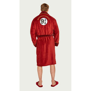 Men's Fleece Bathrobe Hogwarts Express 9 3/4-The Curious Emporium
