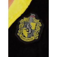 Load image into Gallery viewer, Harry Potter Hufflepuff Mens Black Fleece Robe with Hood-The Curious Emporium