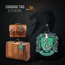 Load image into Gallery viewer, Rubber Luggage Tag Slytherin-The Curious Emporium