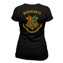Load image into Gallery viewer, Harry Potter Ladies T-Shirt Hogwarts Crest Colour-The Curious Emporium