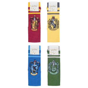Harry Potter House Badges Cotton Knee High Socks Pack of 4-The Curious Emporium