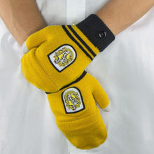 Load image into Gallery viewer, Fingerless Gloves Hufflepuff-The Curious Emporium