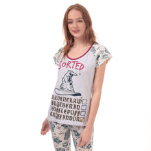 Load image into Gallery viewer, Ladies Harry Potter Sorted Pyjamas-The Curious Emporium