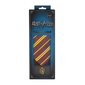 Adult Tie & Metal Pin Deluxe Box Gryffindor-The Curious Emporium