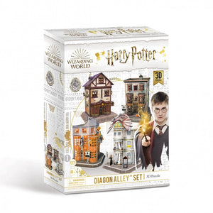 University Games Diagon Alley 4-in-1 3D Puzzle Set-The Curious Emporium