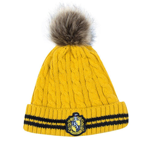 Harry Potter Pom-Pom Beanie Hufflepuff-The Curious Emporium