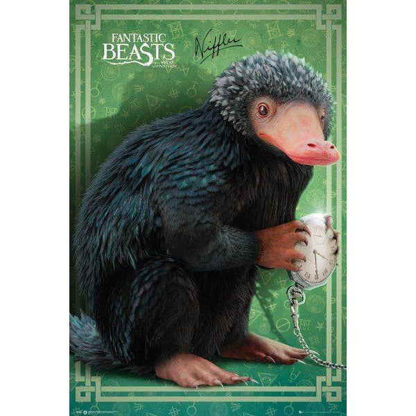 Fantastic Beasts Niffler Poster-The Curious Emporium