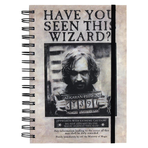 Harry Potter Notebook A5 Wanted Sirius Black-The Curious Emporium