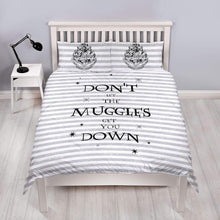 Load image into Gallery viewer, Don't Let The Muggles Double Reversible Duvet Set-The Curious Emporium