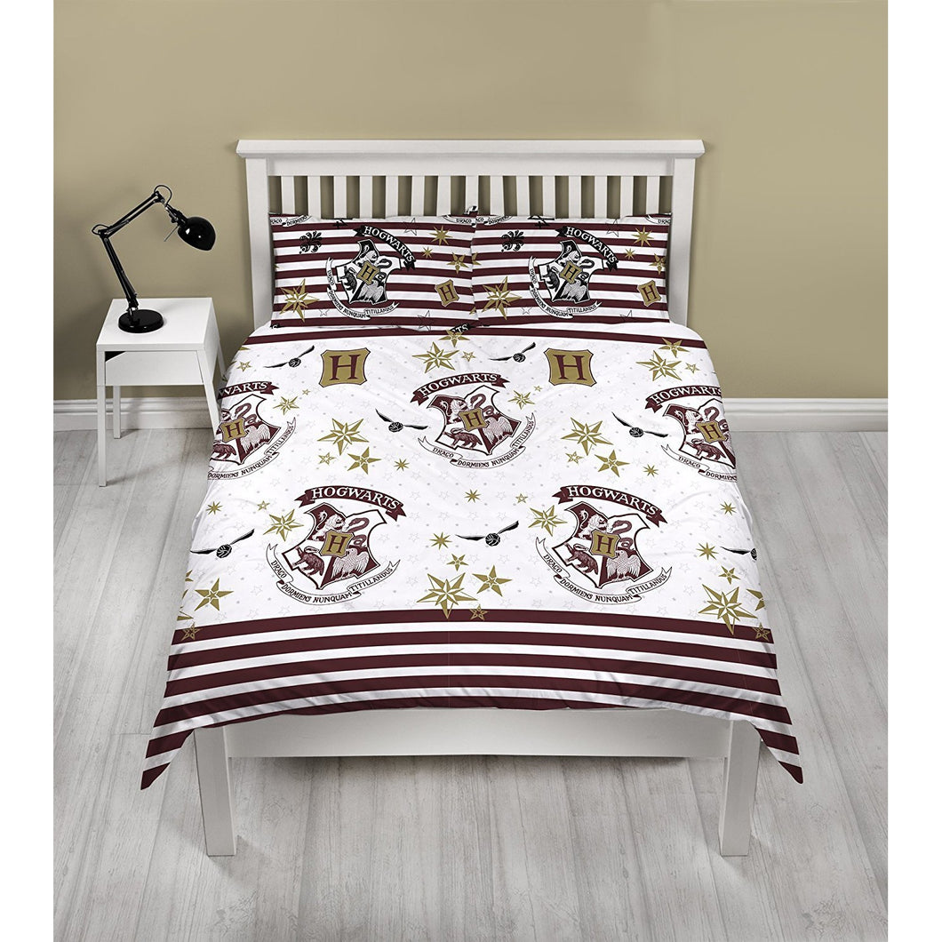 Hogwarts Double Reversible Duvet Set-The Curious Emporium