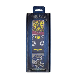 Harry Potter Socks 3-Pack Golden Snitch-The Curious Emporium