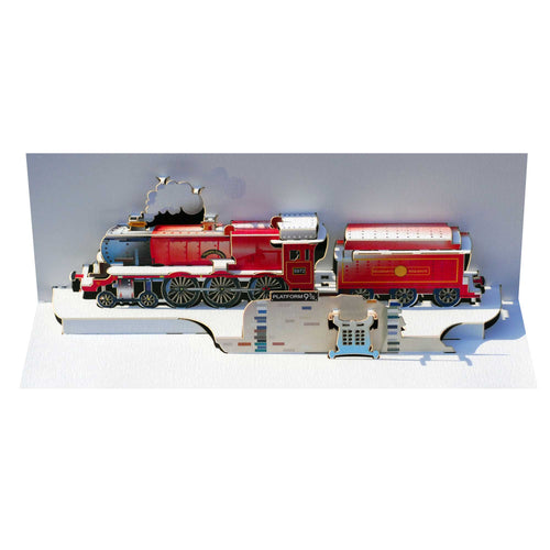 Hogwarts Express Red Train - Amazing Pop-up Greeting Card-The Curious Emporium