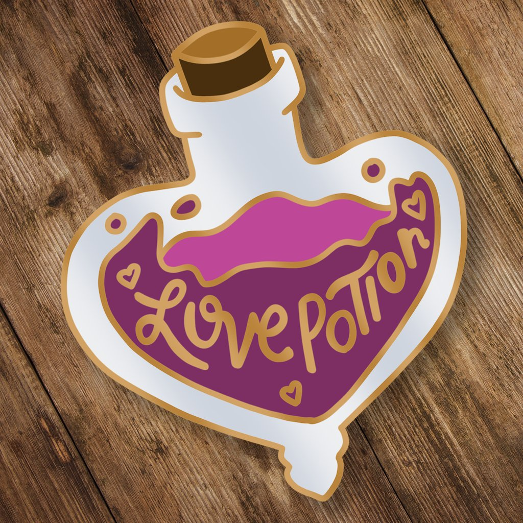 Magical Potions Pin Badge-The Curious Emporium