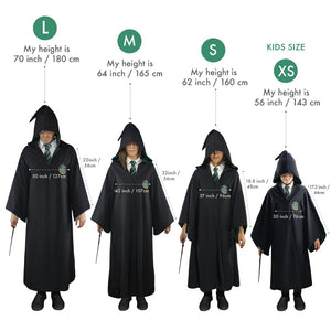 Harry Potter Kids Deluxe Wizard Robe Slytherin-The Curious Emporium