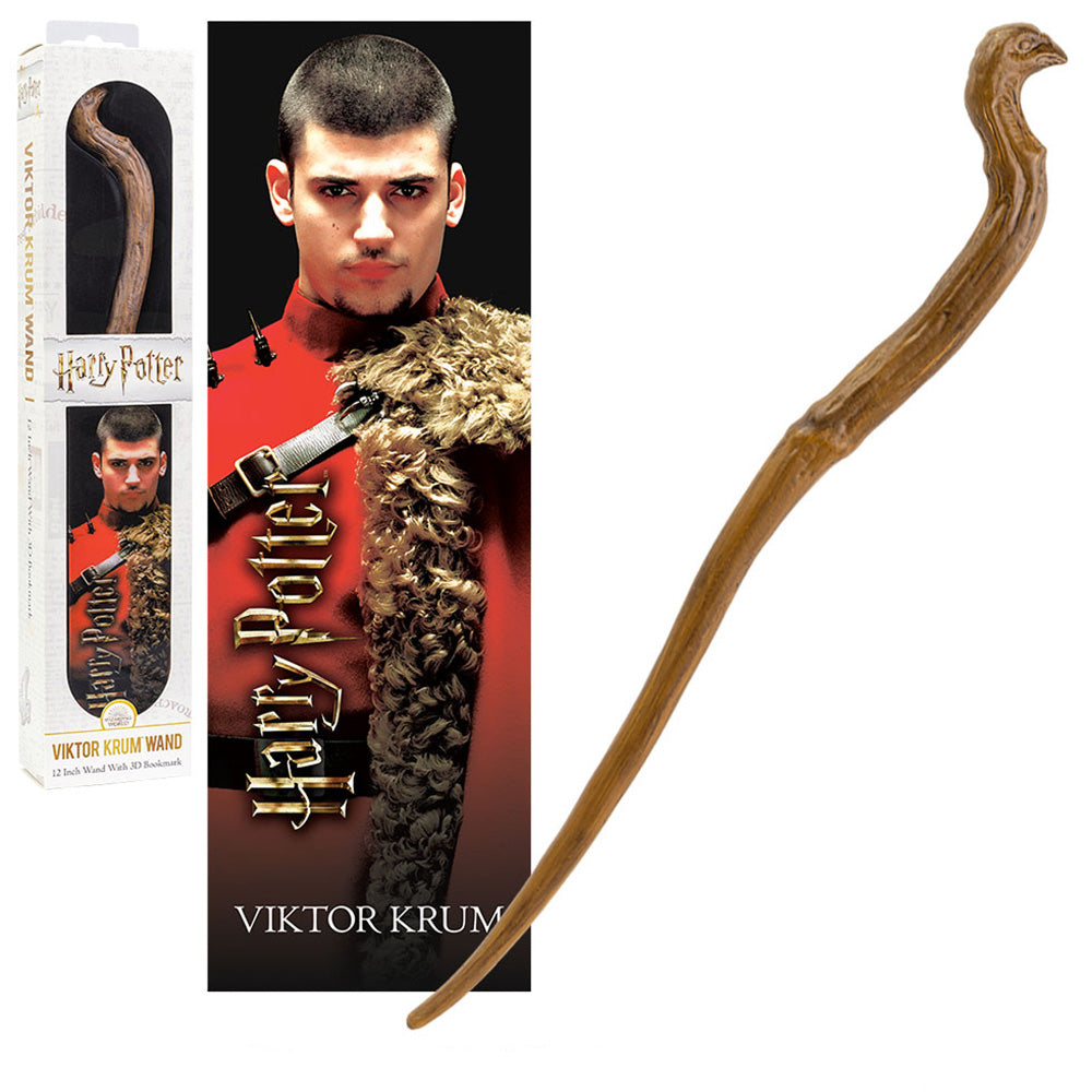 Viktor Krum Toy Wand & Bookmark-The Curious Emporium