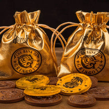 Load image into Gallery viewer, Gringotts Bank Chocolate Coin Mould with Wrappers & Pouches-The Curious Emporium