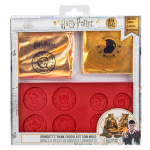 Gringotts Bank Chocolate Coin Mould with Wrappers & Pouches-The Curious Emporium