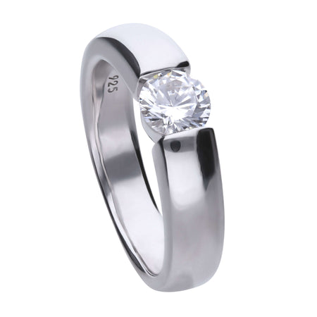 Anillo Carats solitario engastado al aire - 6 mm by Diamonfire