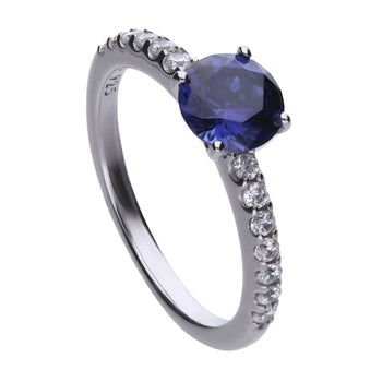 Anillo Royal Colour con circonita DiamonFire azul