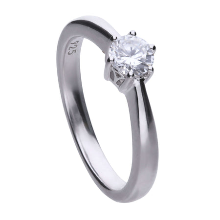 Anillo Classic solitario engastado en garra - 5 mm by Diamonfire
