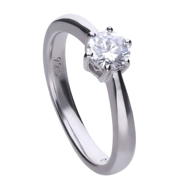 Anillo Classic solitario engastado en garra - 5.65 mm by Diamonfire