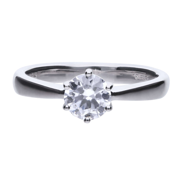 Anillo Carats solitario engastado en garra - 6.25 mm by Diamonfire