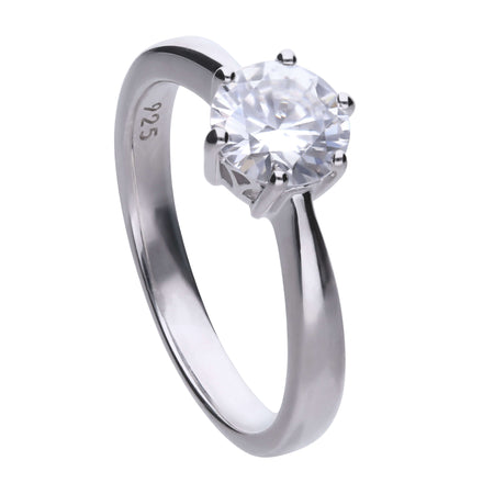 Anillo Carats solitario engastado en garra - 7 mm by Diamonfire