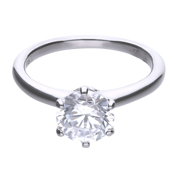 Anillo Carats solitario engastado en garra - 8 mm by Diamonfire