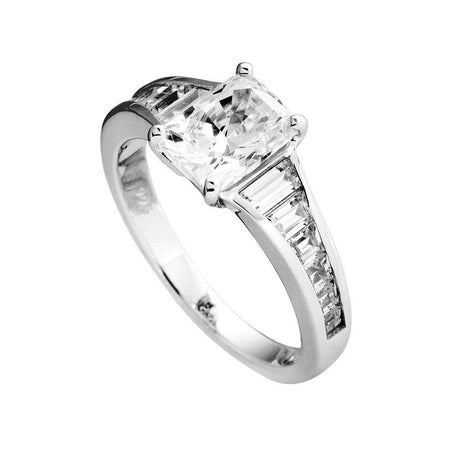 Anillo Classic solitario con piedra de 8x6 mm by Diamonfire