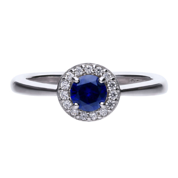 Anillo Royal Colour con circonita azul