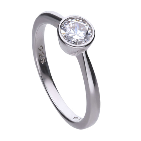 Anillo Carats solitario con circonita de 5,65 mm by Diamonfire