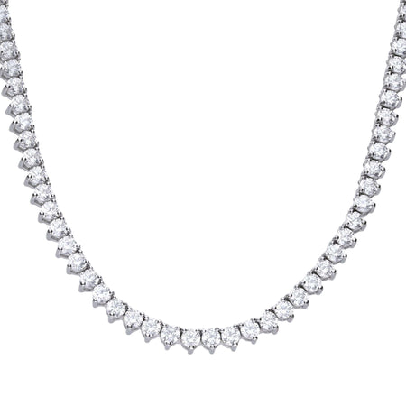 Collar Brilliant de plata Diamonfire