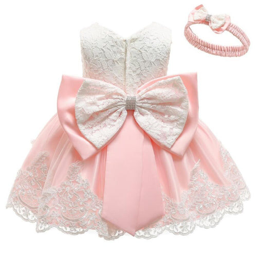 Baby Girls Newborn Dress Clothes New Cute Bowknot Lace Sleeveless Girl Dress Birthday suit infant 2pcs Clothing Sets Kids